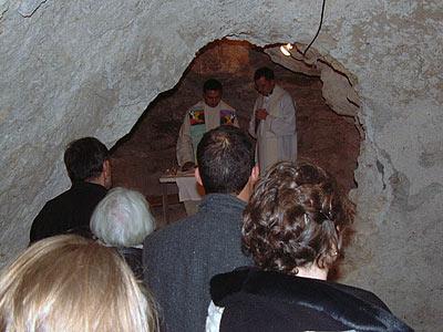 une des grottes du champ des bergers
