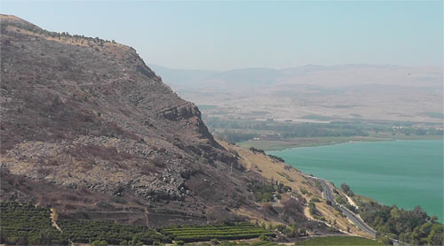 Le nord du Lac de Galillée et le mont Arbel
