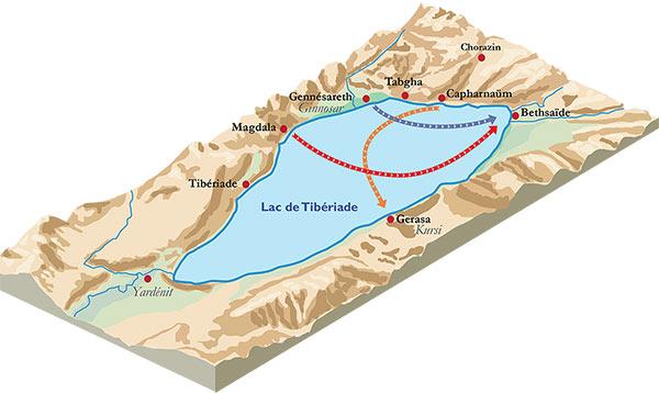 Plan du lac et de ses environs