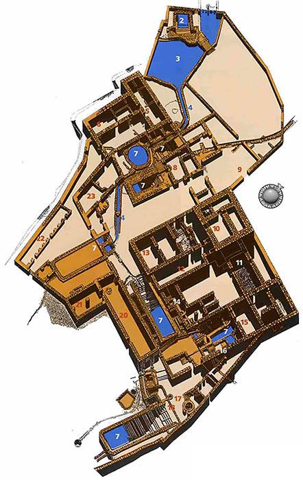 plan du site de Qumrân